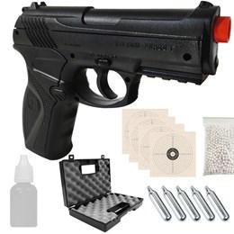 Pistola Airsoft WinGun C11 + 2000 BB's 0,20g + 5 CO2 + Óleo para Hop Up + 4 Alvos + Case