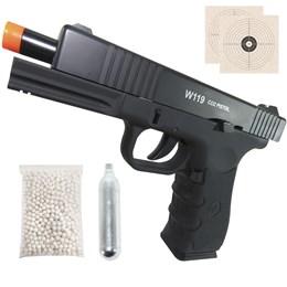 Pistola de Airsoft CO2 Win Gun W119 420fps 6mm Semi-Automática