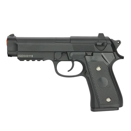 Pistola de Airsoft Vigor PT92 - V22 Spring 6mm Full Metal com 160 FPS