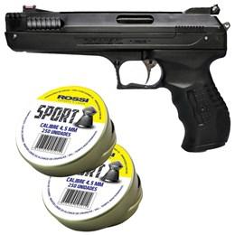 Pistola de Pressão 2004 4.5mm com 500 Chumbinhos