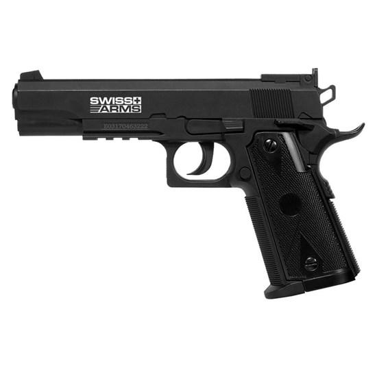 Pistola de Pressão 4.5mm CO2 Swiss Arms P1911 Match até 361 FPS