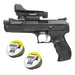 Pistola de Pressão Beeman 2006 com Red Dot Preto + 2 Chumbinhos Rossi Sport 4,5mm 500 Un
