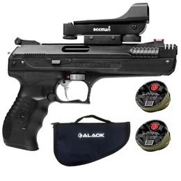 Pistola de Pressão Beeman 5,5mm 328 FPS com Red Dot + 200 Chumbinhos + Capa