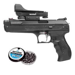 Pistola de Pressão Beeman 5.5mm Red Dot com 250 Chumbinhos Diabolô