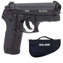 Pistola de Pressão CO2 Gamo PT-80 4.5mm 410 fps Semi-Automática + Capa