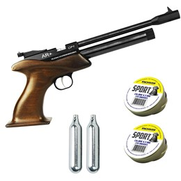 Pistola de Pressão CO2 SPA CP1 4.5mm 500 fps + 500 Chumbinhos + 2 CO2