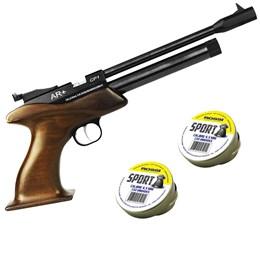 Pistola de Pressão CO2 SPA CP1 4.5mm 500 fps Monotiro + 500 Chumbinhos