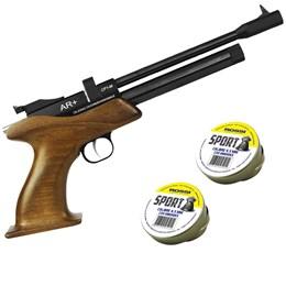 Pistola de Pressão CO2 SPA CP1-M 4.5mm 500 fps Semi-Automática + 500 Chumbinhos