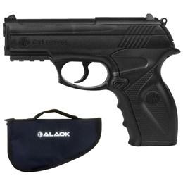 Pistola de Pressão CO2 Win Gun C11 4.5mm 410 fps Semi-Automática + Capa