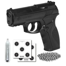 Pistola de Pressão CO2 Win Gun C11 4.5mm + Mini Cilindro CO2 + 2 Alvos + 300 Esferas