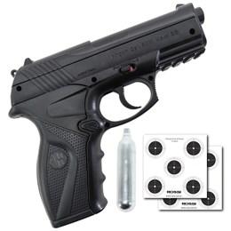 Pistola de Pressão CO2 Win Gun C11 + Mini Cilindro CO2 12g + 2 Alvos de Papel 5x1 14x14cm