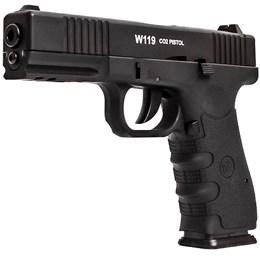 Pistola de Pressão CO2 WinGun W119 4.5mm 442 fps Full Metal