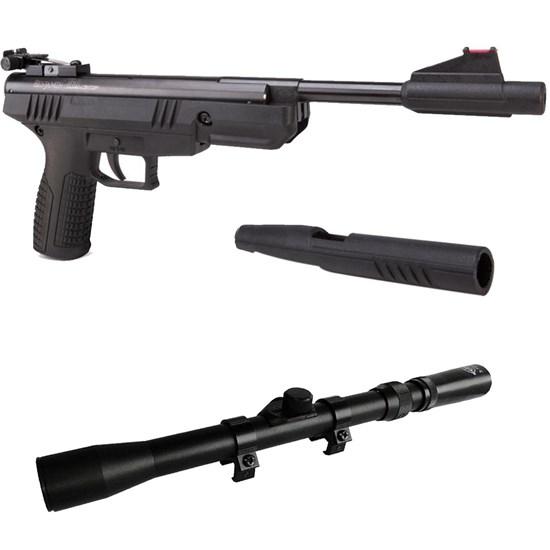 Pistola de Pressão Crosman BBP77 4.5mm Nitro com Luneta Snauzer Scope 3-7x20