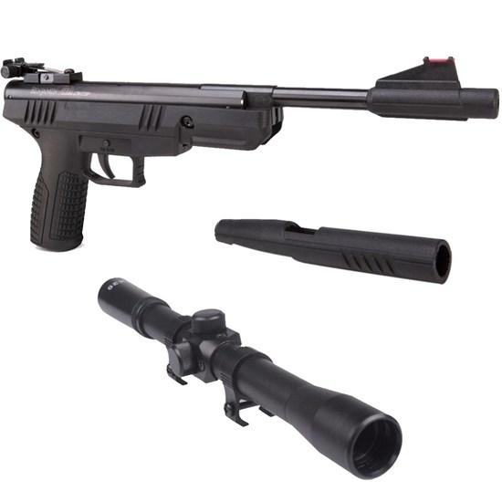 Pistola de Pressão Crosman BBP77 4.5mm Nitro com Luneta Snauzer Scope 4x20