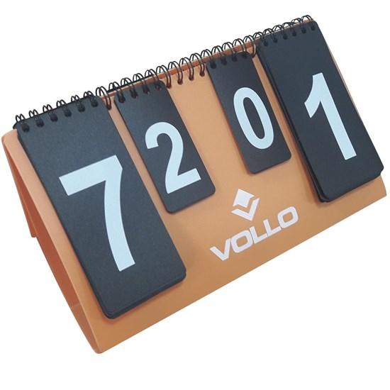 Placar de Mesa Vollo VT613 5 Sets e 20 Pontos Laranja