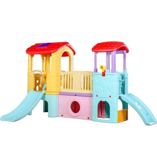 Playground Infantil Importway 3 em 1 Casinha Túnel Escorregador