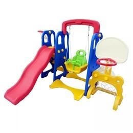 Playground Infantil Importway 5 em 1 Balanço Gol Cesta Escorregador Tabela Basquete