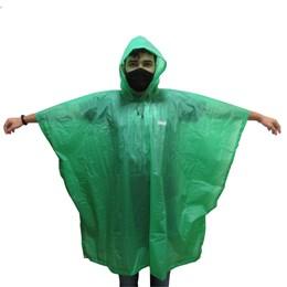 Poncho Capa de Chuva EVA Adulto 15mm Verde 100% Impermeável - Coleman