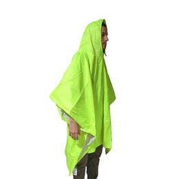 Poncho Impermeável Echolife 3 Em 1 Verde Neon Poliéster com Capuz