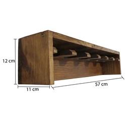 Porta Taças com 06 Compartimentos em Pinus Imbuia