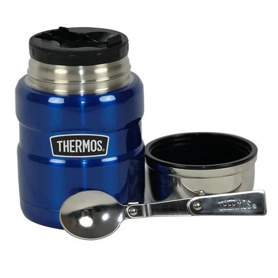 Pote Térmico De Comida Thermos Everest 470ml Azul Com Colher