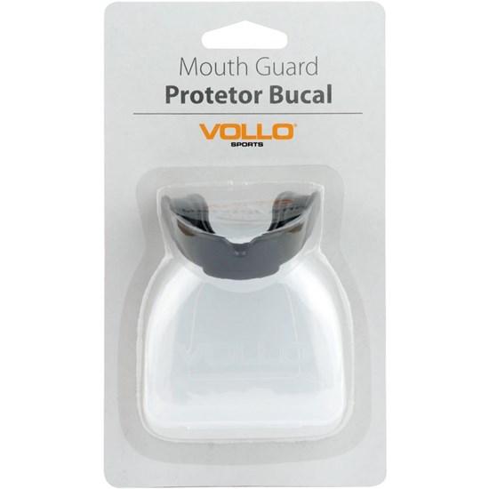 Protetor Bucal Vollo VM502-6 Preto Moldável EVA com Estojo