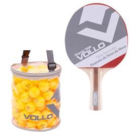 Raquete Energy 1000 Vollo para Tênis de Mesa com 100 Bolas Fun 40