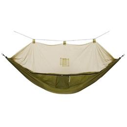 Rede com Mosquiteiro Amazon Guepardo + Cadeira Dobrável para Camping Joy Verde