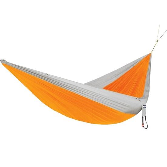 Rede de Dormir e Descanso para Camping Nautika Kokun Casal com Proteção UV 50+ Laranja com Cinza