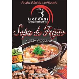 Refeição Liofilizada 1 Porção Liofoods Sopa de Feijão com Macarrão