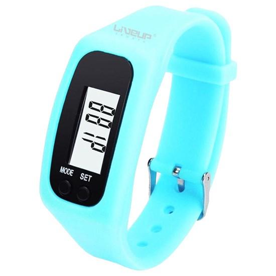 Relógio Pedômetro Contador de Passos e Calorias Azul Liveup LS3348A