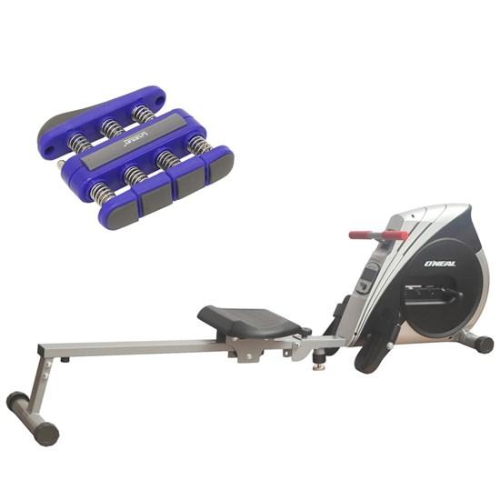 Remo Seco Semi Profissional 4 Níveis Oneal + Hand Grip Exercitador Mãos Liveup