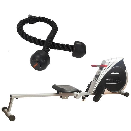 Remo Seco Semi Profissional 4 Níveis Oneal + Puxador Corda Triceps 90cm Liveup