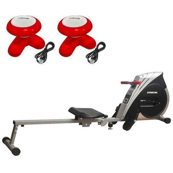 Remo Seco Semi Profissional Concept Oneal + 2 Massageadores Mimo Massager Vermelho