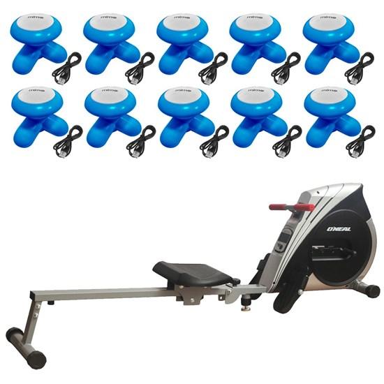 Remo Seco Semi Profissional Tipo Concept Oneal + 10 Massageadores Corporais Azul