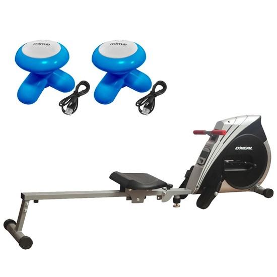 Remo Seco Semi Profissional Tipo Concept Oneal + 2 Massageadores Corporais Azul