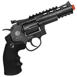 Revólver Airsoft CO2 Win Gun 701 Full Metal + 2 Minis Cilindros CO2 + 2000 BBs + Maleta
