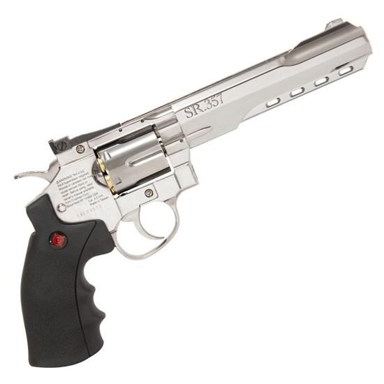 Revólver de Pressão Co2 Crosman SR357 Silver 4.5mm Full Metal