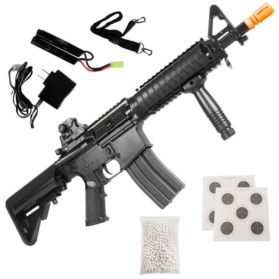 Rifle Airsoft AEG Cyma CM176 Heavy M4 CQB + 500 BB's 0,20g + 2 Alvos