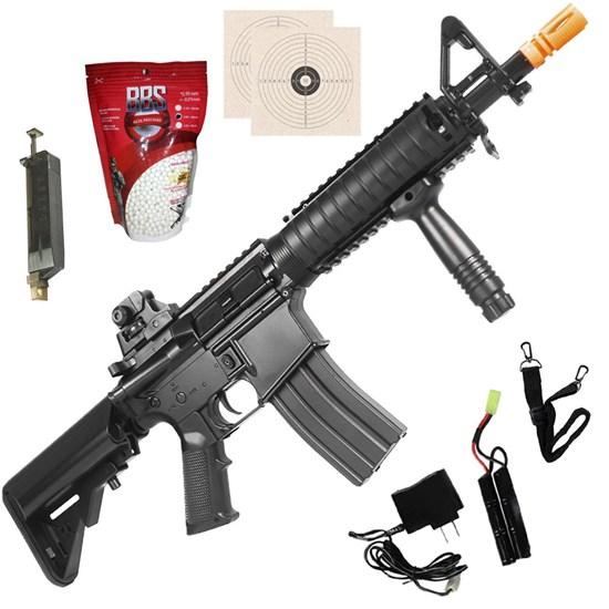 Rifle Airsoft AEG CYMA CM176N M4 CQB + 2000 BB's 0,20g + 2 Alvos