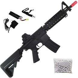 Rifle Airsoft AEG Cyma CM506S M4 CQB RIS ET 400 FPS com Gatilho Eletrônico