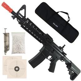 Rifle Airsoft AEG Cyma M4A1 RAS II 410 FPS + 2000 BB's 0,20g + Capa + Speedloader + 2 Alvos