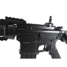 Rifle Airsoft AEG Cyma M4A1 RAS II CM505 410 FPS com Coronha Retrátil