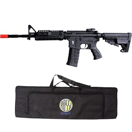 Rifle Airsoft AEG King Arms M4A1 CAA Custom 220V Elétrico + Case Mala ActionX