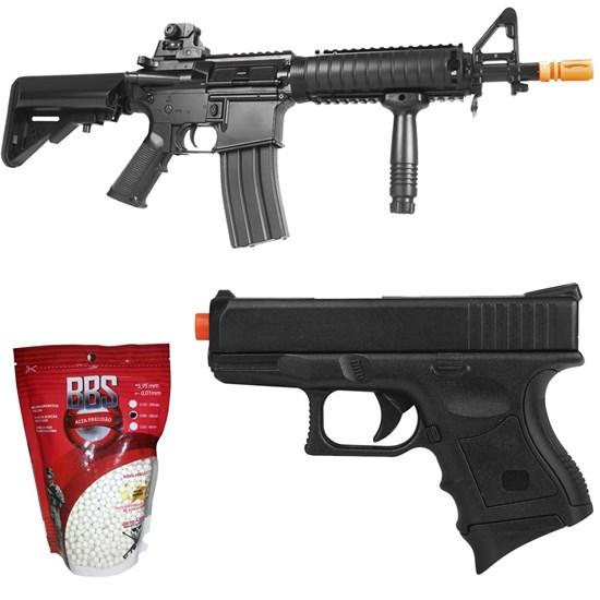 Rifle Airsoft Cyma CM176 Heavy M4 + Pistola CYMA P698 + BBs 0,20g 2000 Unidades