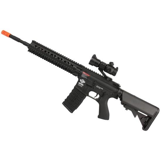 Rifle Airsoft Elétrico G&G CM16 R8-L Semi Automático 370 FPS com Red Dot