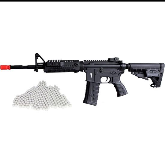 Rifle Airsoft Elétrico King Arms M4A1 CAA 220V + Munições BBs 0,12g 2000 Un