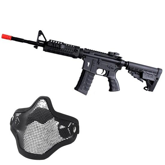 Rifle Airsoft Elétrico King Arms M4A1 CAA Custom 220V + Máscara Meia-face Nautika