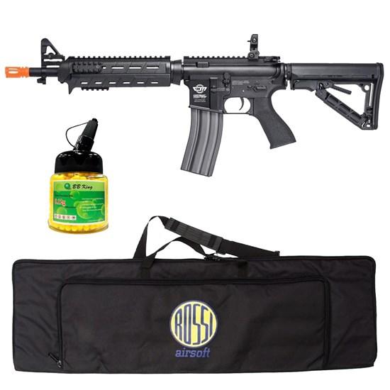 Rifle Airsoft G&G CM16 AEG com 1000 Munições BBs e Case Mala ActionX