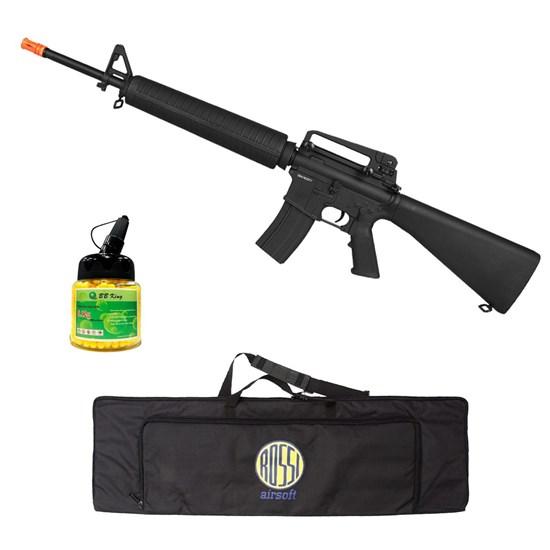 Rifle Airsoft M16A4 CM009 com Case Mala ActionX